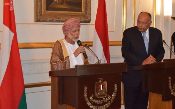 شكري يجري مباحثات رسمية مع وزير خارجية سلطنة عمان يوسف بن علوي