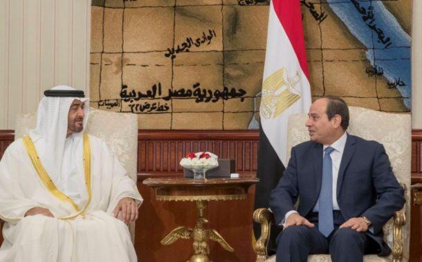 السيسي يستقبل ولي عهد أبو ظبي ويؤكدان على التكاتف لمحاربة الإرهاب.