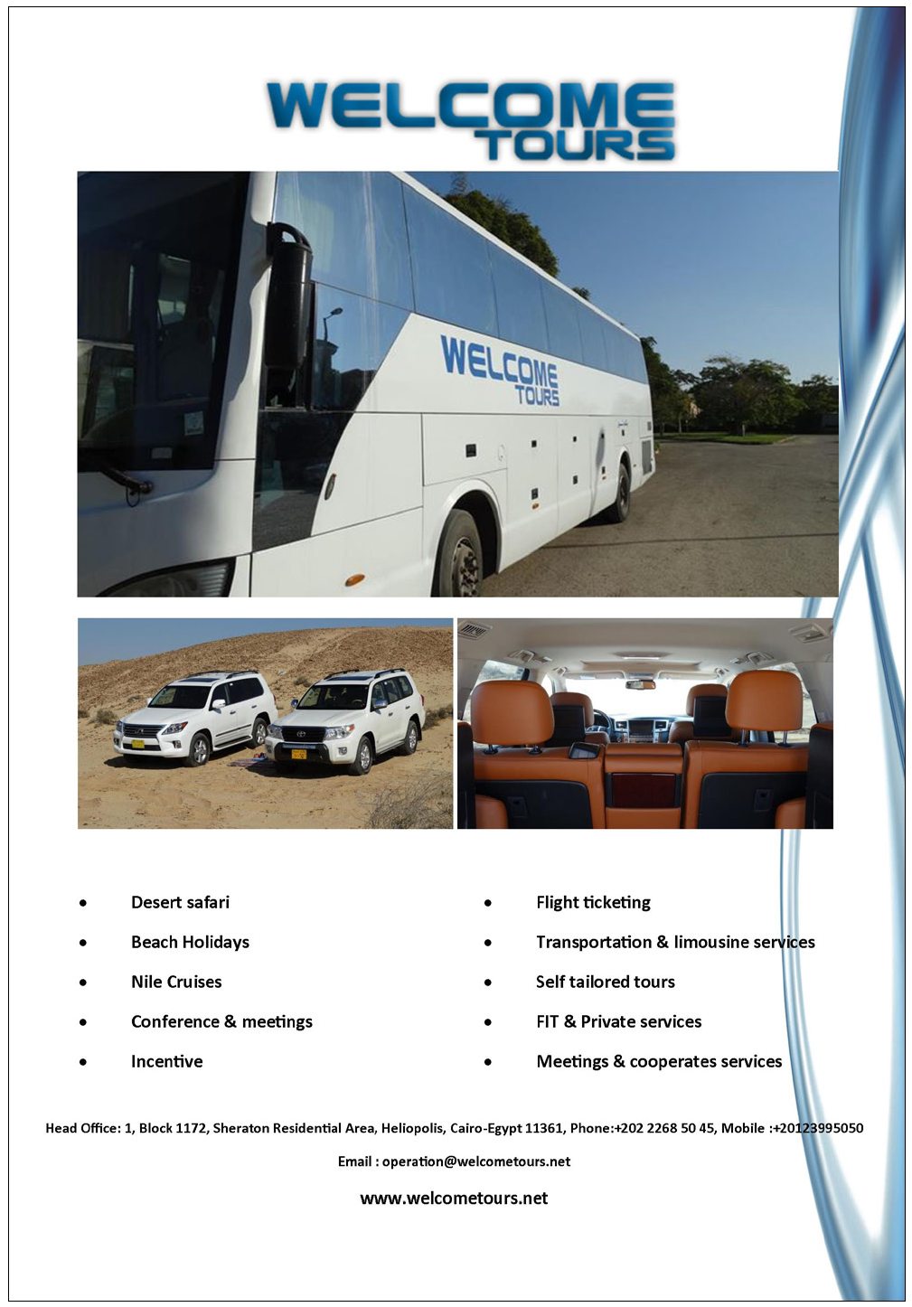 welcome tours