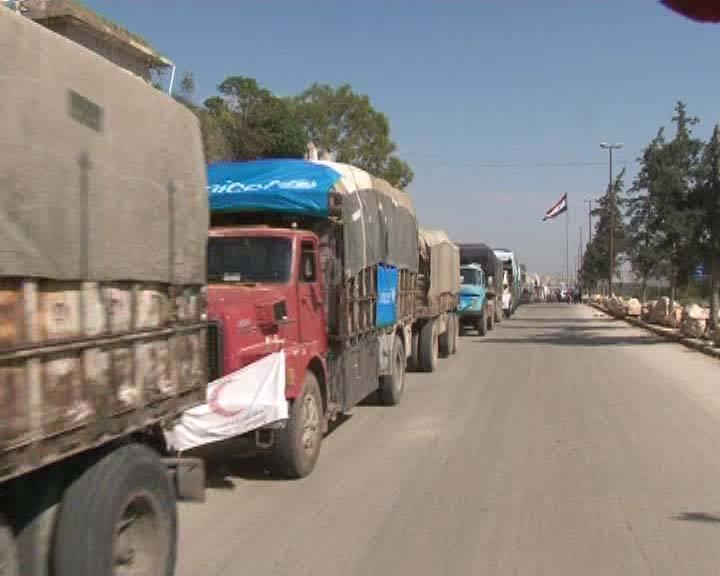 تعاون بين الأمم المتحدة و محافظة حلب و الهلال الأحمر لإيصال المساعدات لريف حلب